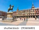 madrid   june 18  tourists... | Shutterstock . vector #293606801