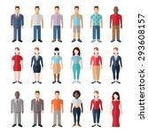flat style modern people in... | Shutterstock . vector #293608157