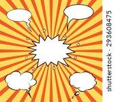 comics pop art style blank... | Shutterstock .eps vector #293608475
