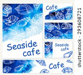 seafood menu design template.... | Shutterstock .eps vector #293608721