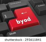 byod keyboard key of a notebook ... | Shutterstock . vector #293611841