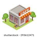 isometric cafe. vector | Shutterstock .eps vector #293612471