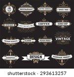 vintage logo template  hotel ... | Shutterstock .eps vector #293613257
