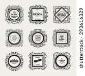 luxury logo template with... | Shutterstock .eps vector #293616329