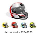 set of vector racing helmets | Shutterstock .eps vector #29362579