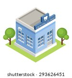 isometric  dental clinic. vector | Shutterstock .eps vector #293626451