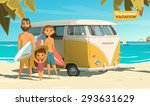 surfing in this summer. enjoy it | Shutterstock .eps vector #293631629