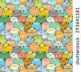 cats seamless pattern | Shutterstock .eps vector #293641181