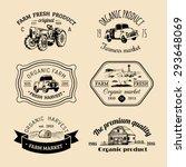 vector retro set of family farm ... | Shutterstock .eps vector #293648069