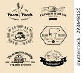 vector retro set of farm fresh... | Shutterstock .eps vector #293648135