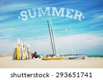 summer time background with... | Shutterstock . vector #293651741