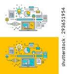 thin line flat design concept... | Shutterstock .eps vector #293651954