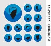 shield safe defense icon set | Shutterstock .eps vector #293652491