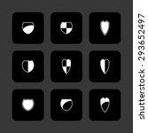 shield safe defense icon set | Shutterstock .eps vector #293652497
