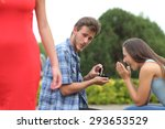 Cheater Man Cheating During A...