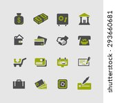 currency icon set | Shutterstock .eps vector #293660681