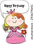 happy birthday card | Shutterstock .eps vector #293679641