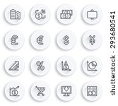 finance flat contour icons on... | Shutterstock .eps vector #293680541