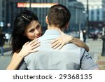 the young girl embraces the guy | Shutterstock . vector #29368135