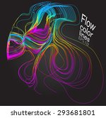 moving colorful lines of... | Shutterstock .eps vector #293681801