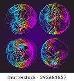 moving colorful lines of... | Shutterstock .eps vector #293681837