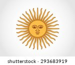 argentina sun of may | Shutterstock .eps vector #293683919