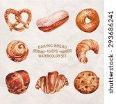 vector set of baking in... | Shutterstock .eps vector #293686241