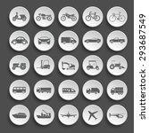 transportation icon set.vector | Shutterstock .eps vector #293687549