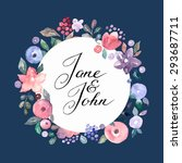 wedding invitation card with... | Shutterstock .eps vector #293687711