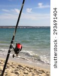 Fishing Rod On A Beach