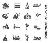 thailand travel black white... | Shutterstock .eps vector #293699525