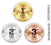 gold  silver and bronze winner... | Shutterstock .eps vector #293700911
