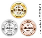 gold  silver and bronze winner... | Shutterstock .eps vector #293700914