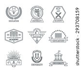 set of university and college... | Shutterstock .eps vector #293708159