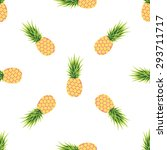 card with pineapple on white... | Shutterstock .eps vector #293711717
