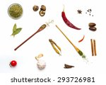 group of indian spices and... | Shutterstock . vector #293726981