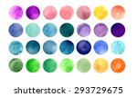 watercolour circle textures.... | Shutterstock . vector #293729675