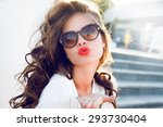 young attractive woman face... | Shutterstock . vector #293730404