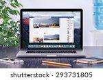 facebook timeline in user... | Shutterstock . vector #293731805