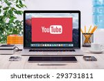 Youtube Logo On The Front View...