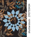 seamless  flower illustration ... | Shutterstock .eps vector #293733434