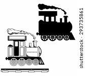 wild west steam locomotive. toy ... | Shutterstock . vector #293735861