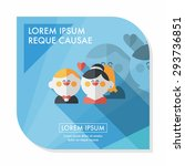 wedding couple flat icon with... | Shutterstock .eps vector #293736851
