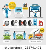 auto maintenance services icons....