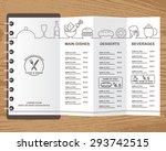 restaurant  bistro and cafe... | Shutterstock .eps vector #293742515