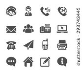 contact us icon set  vector...
