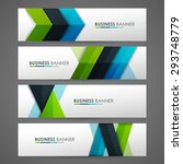 set of banner templates. bright ... | Shutterstock .eps vector #293748779