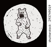 bear doodle | Shutterstock . vector #293749019