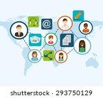 social media design  vector... | Shutterstock .eps vector #293750129