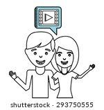 social media design  vector... | Shutterstock .eps vector #293750555